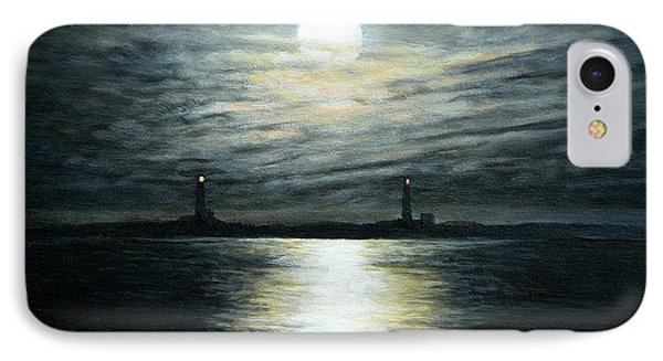 Supermoon Rising Over Thacher Island Phone Case by Eileen Patten Oliver