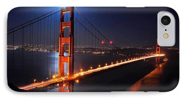 Supermoon Shining On Top Of The Golden Gate Bridge IPhone Case