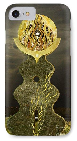 Supermoon Through The Sun Statue IPhone Case