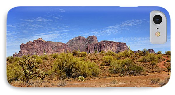 Superstition Mountains Arizona - Flat Iron Peak IPhone Case by Christine Till