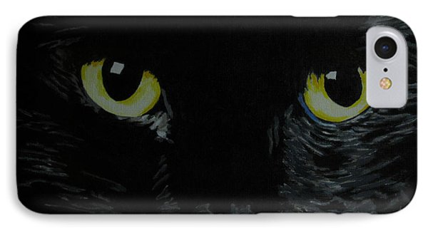 Superstitious Eyes Phone Case by Nancie Johnson