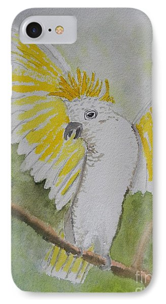 Suphar Crested Cockatoo Phone Case by Pamela  Meredith