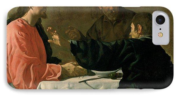 Supper At Emmaus, 1620 Oil On Canvas IPhone Case by Diego Rodriguez de Silva y Velazquez
