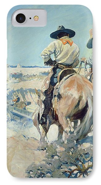Supply Wagons IPhone Case by Newell Convers Wyeth
