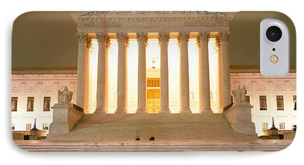 Supreme Court Building Illuminated IPhone Case by Panoramic Images