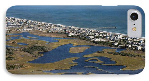 Surf City North Carolina Aerial IPhone Case by Betsy Knapp