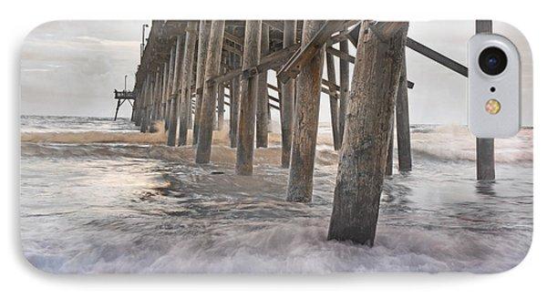 Surf City Ocean Pier IPhone Case by Betsy Knapp