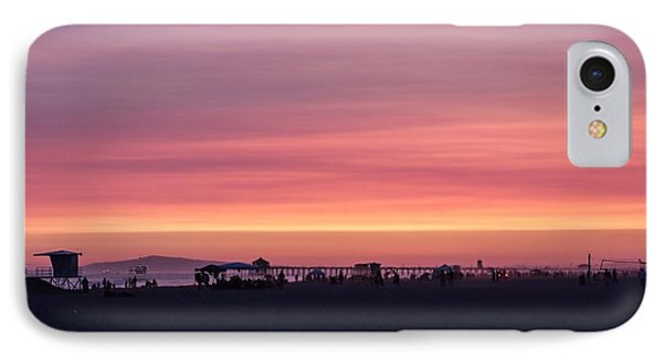 Surf City Sunset IPhone Case by Kevin Ashley
