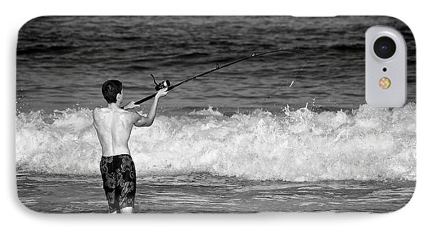 Surf Fishing IPhone Case by Mark Miller