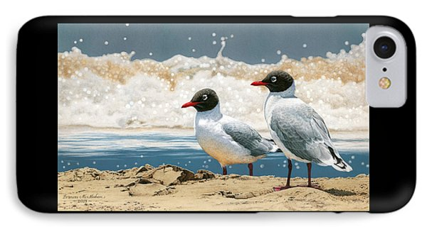 Surf 'n' Turf - Franklin's Gulls IPhone Case by Frances McMahon