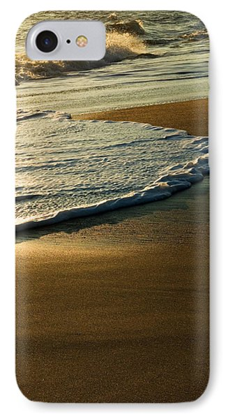 Surf On Sandy Beach, Sunrise Light IPhone Case