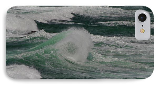 Surf On The Beach, Cape Kiwanda State IPhone Case by Panoramic Images