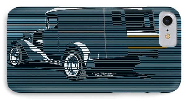 Surf Truck Ocean Blue Phone Case by MOTORVATE STUDIO Colin Tresadern