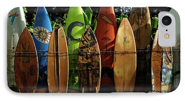 Surfboard Fence 4 Phone Case by Bob Christopher
