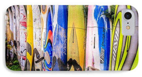 Surfboard Fence Maui Hawaii IPhone Case by Edward Fielding