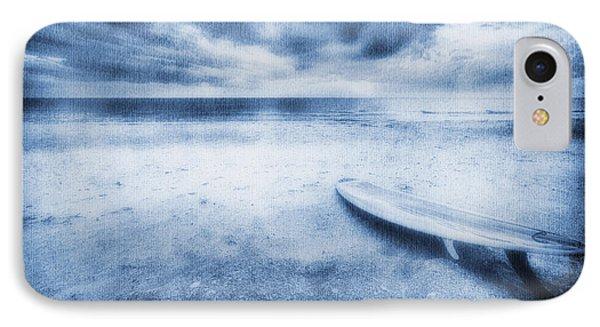 Surfboard On The Beach Phone Case by Skip Nall