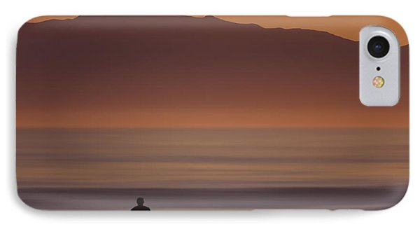 IPhone Case featuring the photograph Surfer Approaching Rincon Mg_9505 by David Orias
