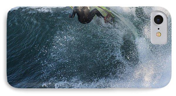 Surfer At Steamer Lane IPhone Case by Bruce Frye