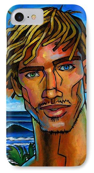 Surfer Dude Phone Case by Douglas Simonson