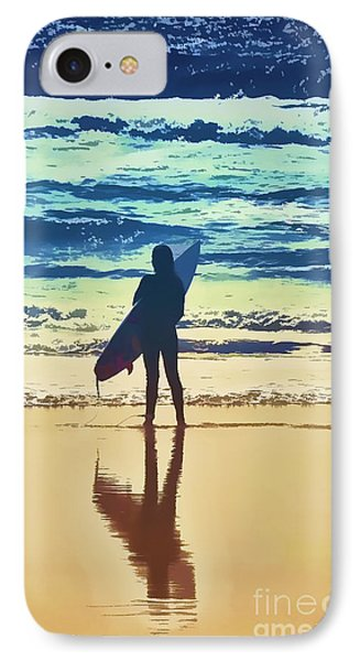 Surfer Girl IPhone Case by Andrea Auletta
