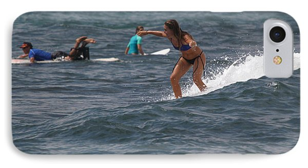 Surfer Girl In Blue IPhone Case