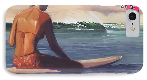Surfer Girl Pleasure Point IPhone Case