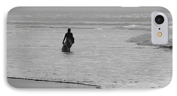 Surfer In The Mist Phone Case by Terri Waters