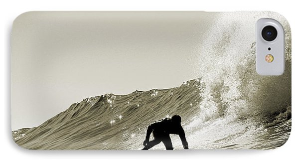 Surfer Sepia Silhouette IPhone Case