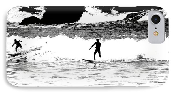 Surfer Silhouette IPhone Case by Kathy Churchman