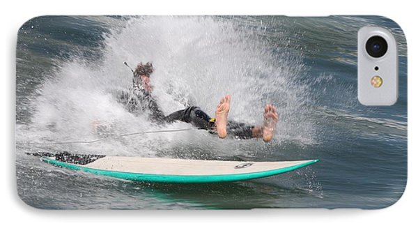 Surfer Wipeout IPhone Case by Nathan Rupert