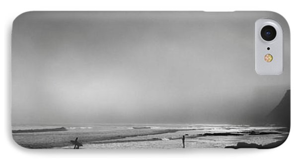 Surfers On The Beach, Point Reyes IPhone Case by Panoramic Images