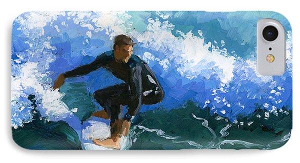 Surfin' Huntington Beach Pier IPhone Case