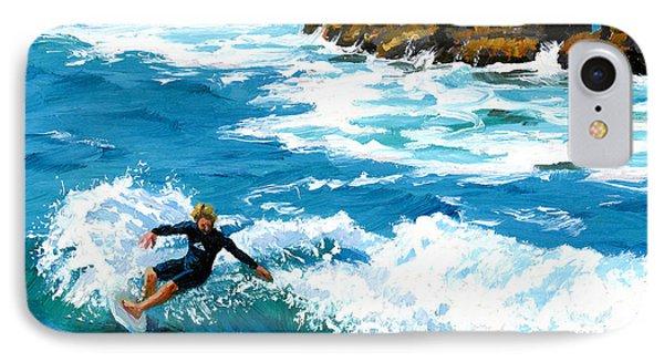 Surfin' Laguna Rocks IPhone Case by Alice Leggett