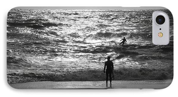 Surf'in The Atlantic Ocean IPhone Case by Csilla Szabo