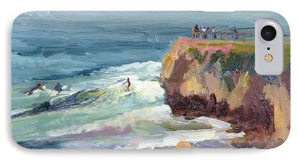 Surfing At Steamers Lane Santa Cruz IPhone Case by Suzanne Elliott