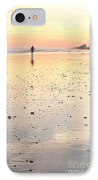 Surfing Sunset IPhone Case by Eric  Schiabor