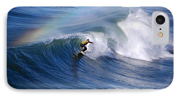 Surfing Under A Rainbow IPhone Case