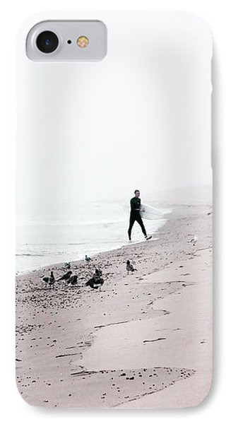 Surfing Where The Ocean Meets The Sky IPhone Case by Brooke T Ryan