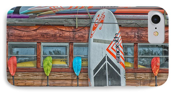Surfs Up - Vintage Woodie Surf Bus - Florida - Hdr Style IPhone Case
