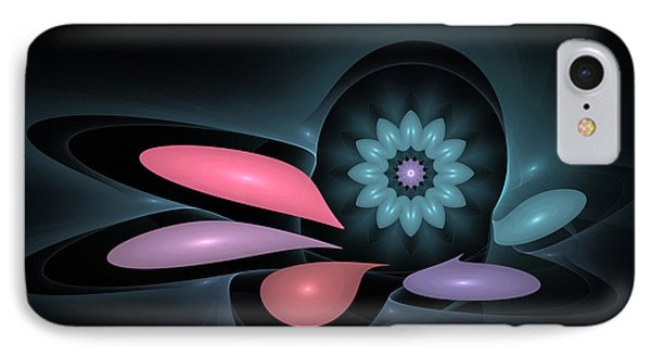 IPhone Case featuring the digital art Surprise Flower by Hanza Turgul