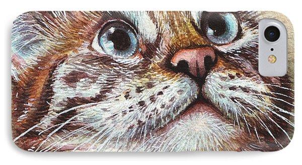 Surprised Kitty Phone Case by Olga Shvartsur