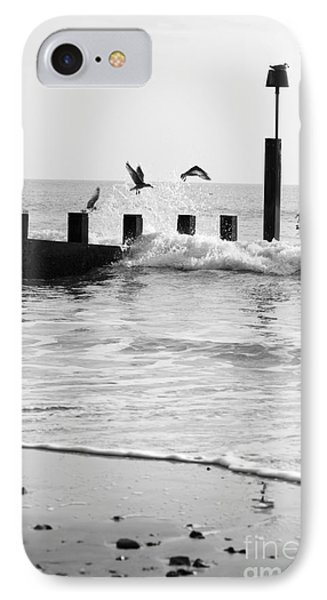 Surprised Seagulls IPhone Case by Anne Gilbert