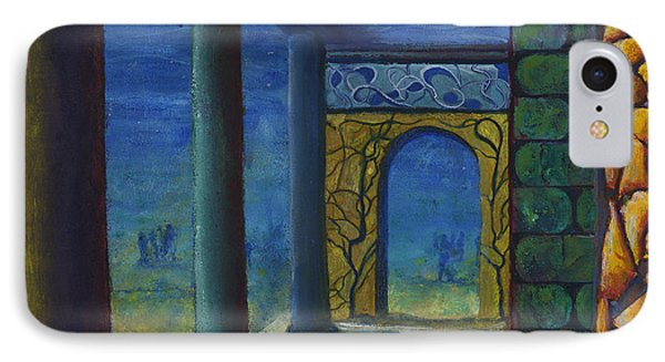 Surreal Art With Walls And Columns Phone Case by Lenora  De Lude