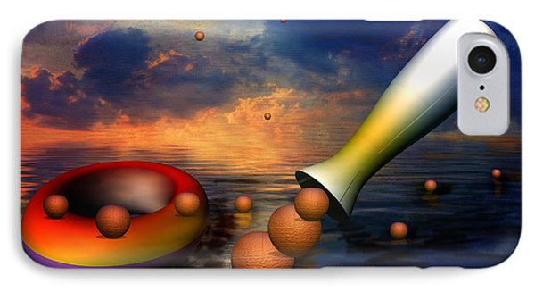 Surreal Dinner Served Over The Ocean Phone Case by Angela A Stanton