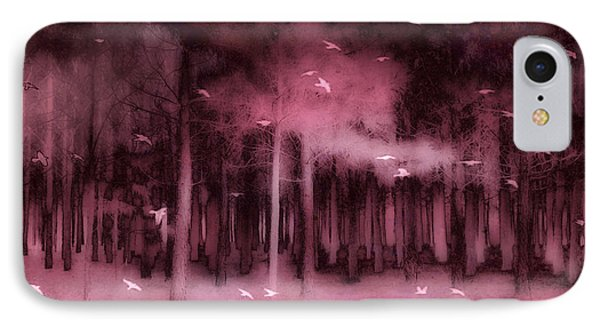 Surreal Fantasy Nature Forest Trees Woodlands Ravens Birds  IPhone Case