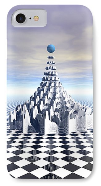 Surreal Fractal Tower Phone Case by Phil Perkins