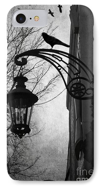 Surreal Gothic Haunting Street Lamps Lanterns With Ravens And Crows IPhone Case