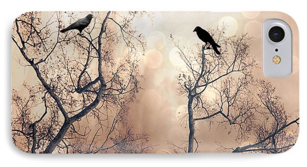 Surreal Gothic Nature Ravens Trees - Surreal Fantasy Dreamy Trees Nature Raven Crows Trees  IPhone Case
