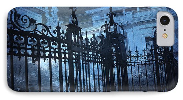 Surreal Gothic Savannah Mansion Black Rod Iron Gates IPhone Case