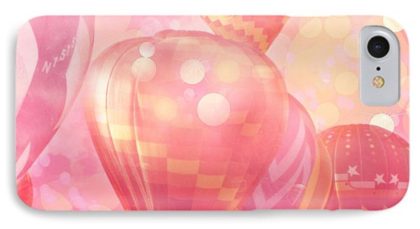 Surreal Hot Pink Orange And Yellow Hot Air Balloons - Hot Air Balloons Festival Fantasy Art Prints IPhone Case by Kathy Fornal